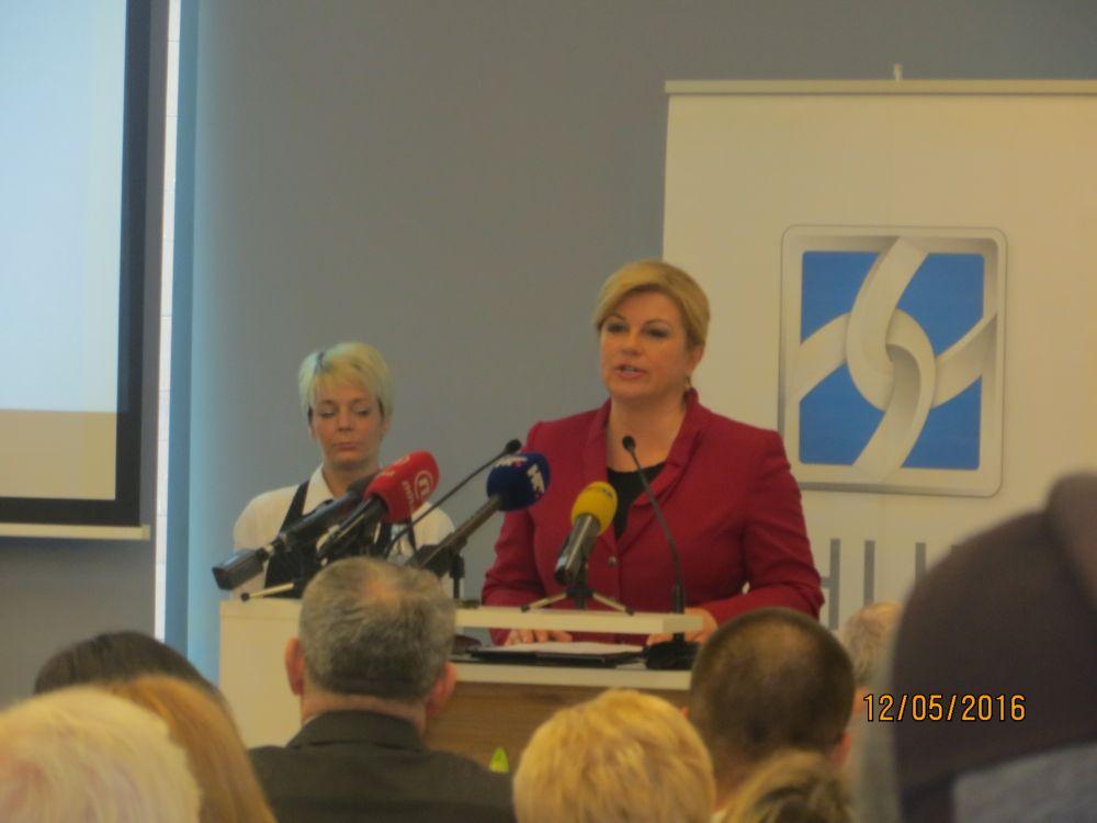 Predsjednica - dodjela  nagrada HUPa za DOP
