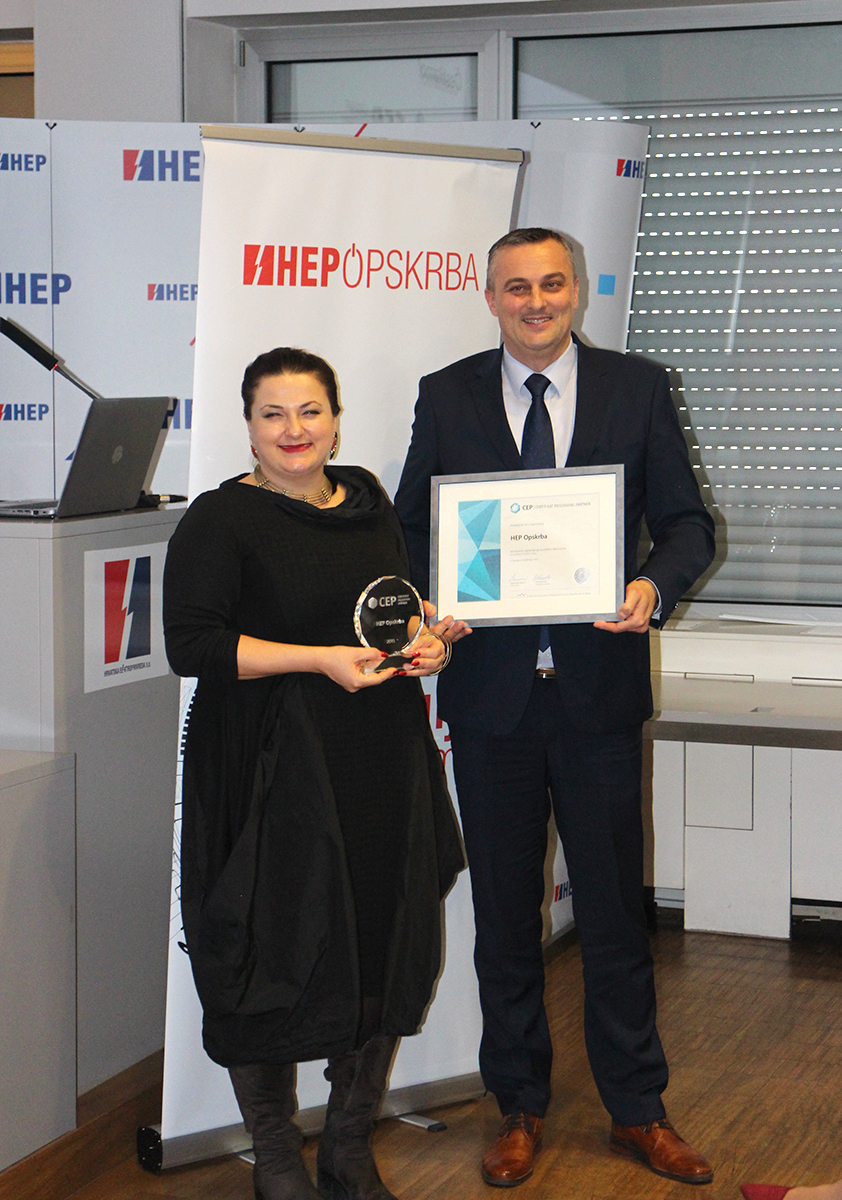 Dodjela certifikata Poslodavac Partner HEP Opskrbi