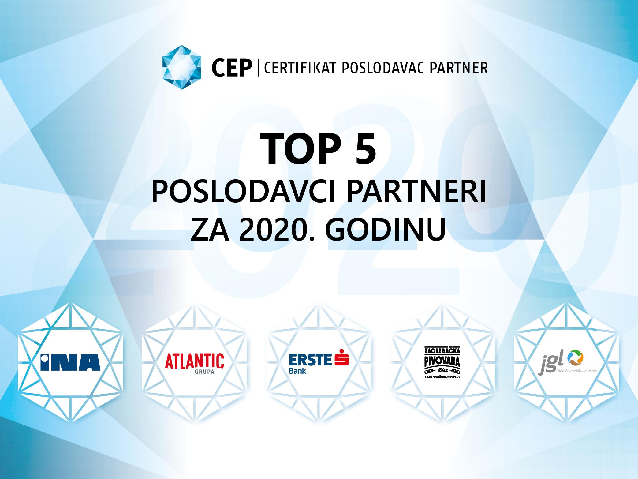 TOP 5 Poslodavci Partneri za 2020. godinu