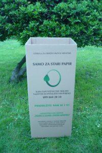 Slika 2: Eko kutija za odvojeno sakupljanje starog papira u kućanstvima i stambenim zgradama